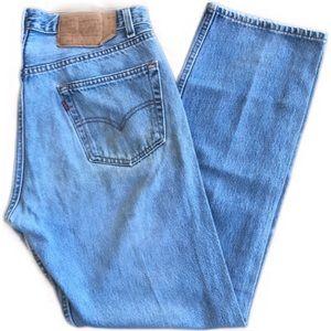 Vintage Levi's made in USA 501 lightwash Jeans
